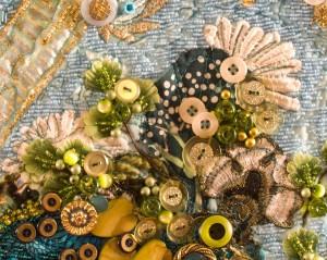 Lace fans as a design element in an art quilt