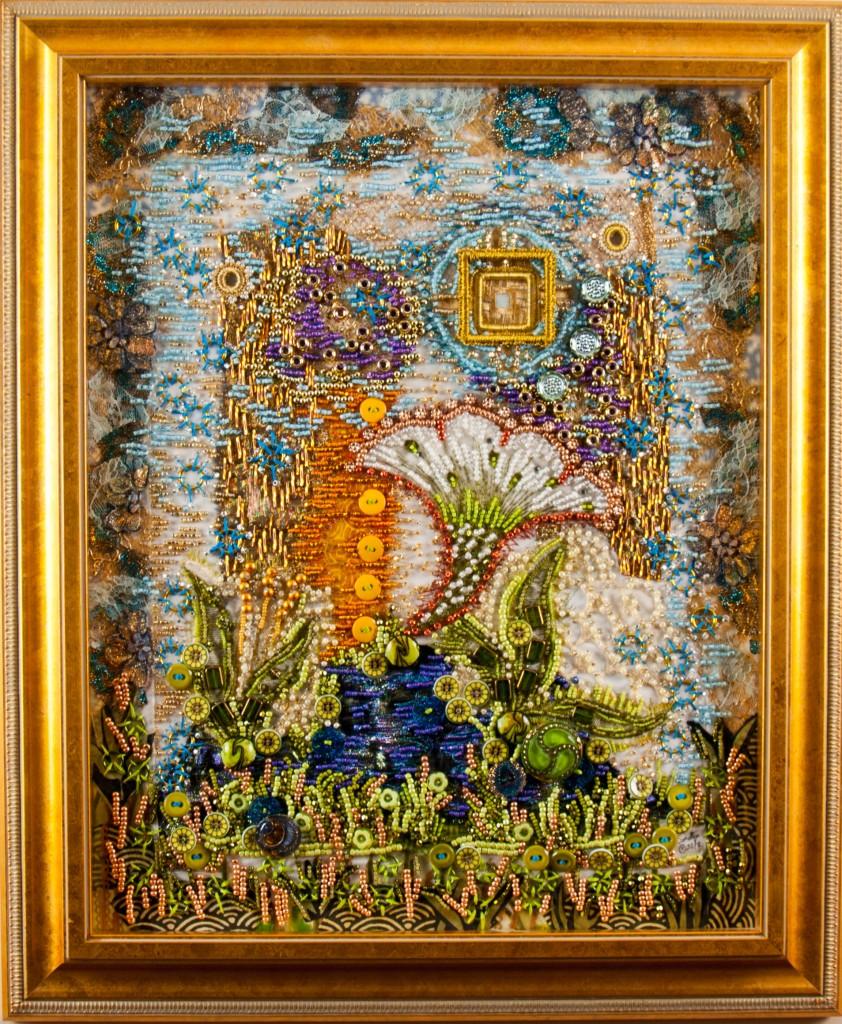"""""""Keith's Garden"""" - a meditation art quilt"""