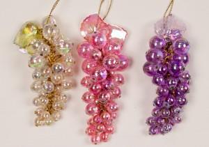 Glass grape Christmas ornaments