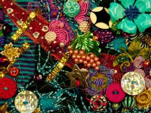 Grape cluster costume jewelry pin