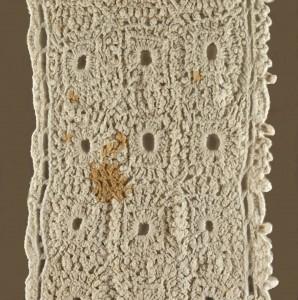Detail of crocheted tavle runner