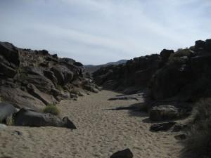 Going into Little Petroglyph Canyon, China Lake, Californina, USA