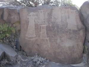 Human petroglyphs at China Lake, California, USA