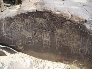 More petroglyphs, China Lake, California, USA