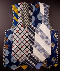 Back of Vest Made of Men's Ties
