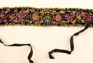 Black beaded choker by Nancy Smeltzer