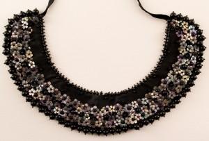 Black sequined collar