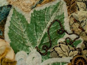 stenciled maple leaf