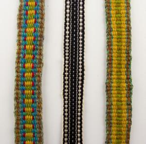 Samples of Inkle Weaving